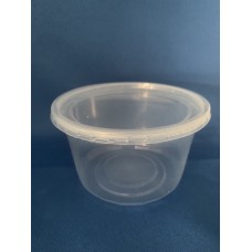 Clear Plastic Cylindrical Tub (12oz) x 10