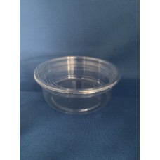 Clear Plastic Cylindrical Tub (8oz) x 10