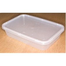 Clear Plastic Rectangular Tub (650) x 10